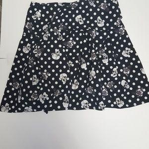 Hot topic skull mini skirt